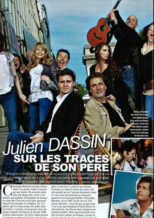 article sur le spectacle de joe dassin dans gala du 26 mai 2010 30266_11