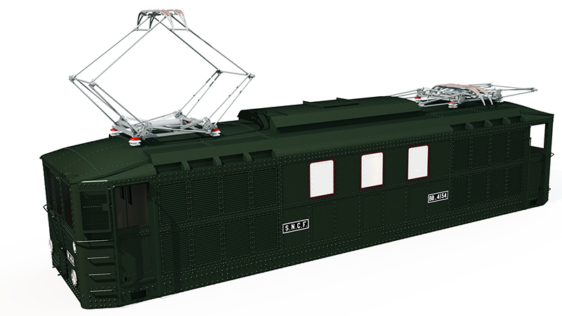 Locomotive électrique BB 4100/4600 SNCF ex MIDI en zéro. Bb_41018