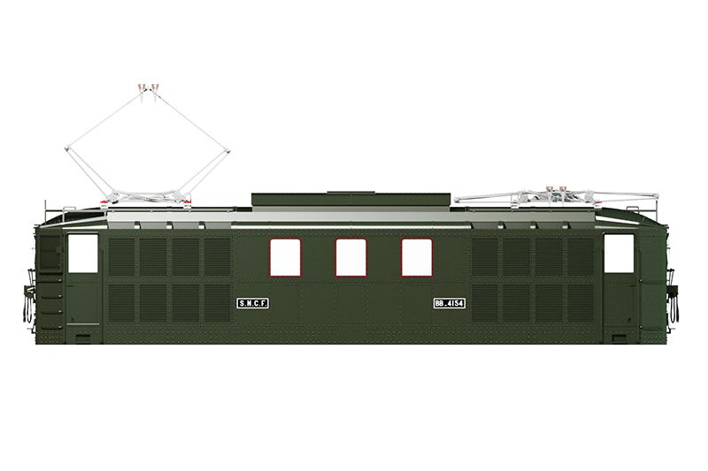 Locomotive électrique BB 4100/4600 SNCF ex MIDI en zéro. Bb_41026