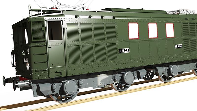 Locomotive électrique BB 4100/4600 SNCF ex MIDI en zéro. Bb_41027