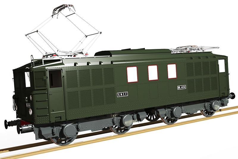 Locomotive électrique BB 4100/4600 SNCF ex MIDI en zéro. Bb_41028