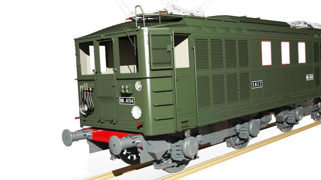 Locomotive électrique BB 4100/4600 SNCF ex MIDI en zéro. - Page 2 Bb_41030