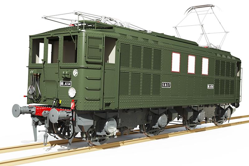 Locomotive électrique BB 4100/4600 SNCF ex MIDI en zéro. - Page 2 Bb_41037