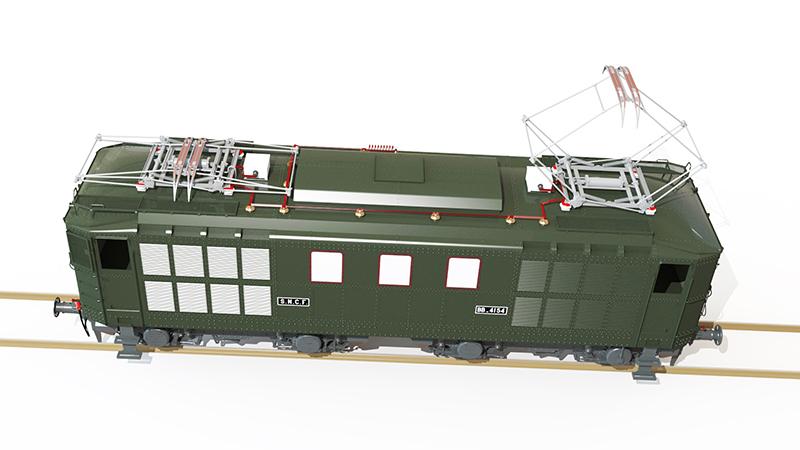 Locomotive électrique BB 4100/4600 SNCF ex MIDI en zéro. - Page 2 Bb_41041