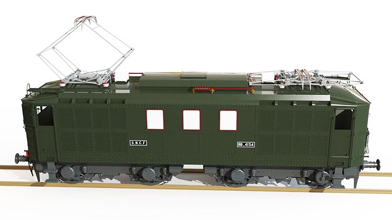 Locomotive électrique BB 4100/4600 SNCF ex MIDI en zéro. - Page 2 Bb_41042