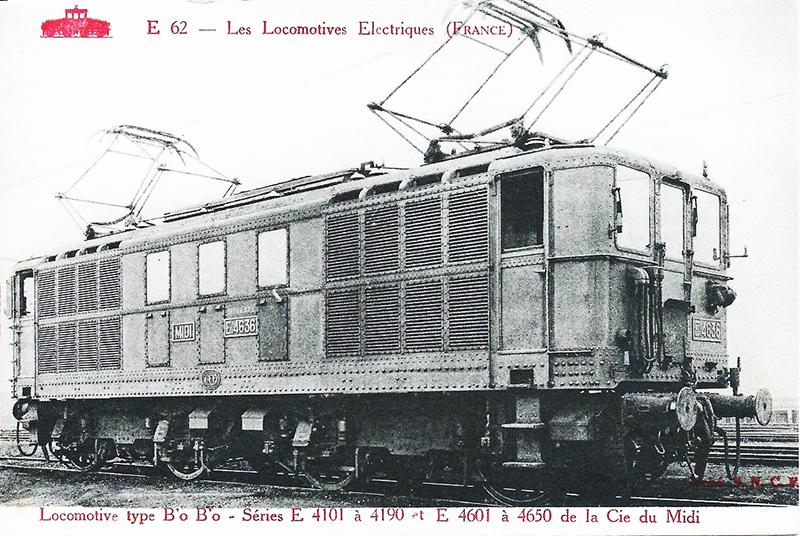 Locomotive électrique BB 4100/4600 SNCF ex MIDI en zéro. E_463610