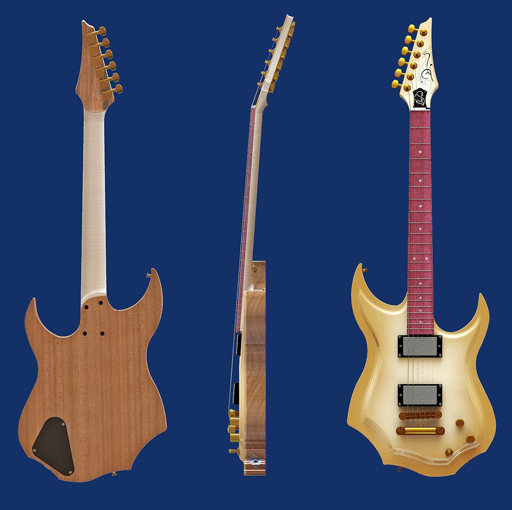 Basse de viole en noyer et à six cordes - Page 8 Guitar35