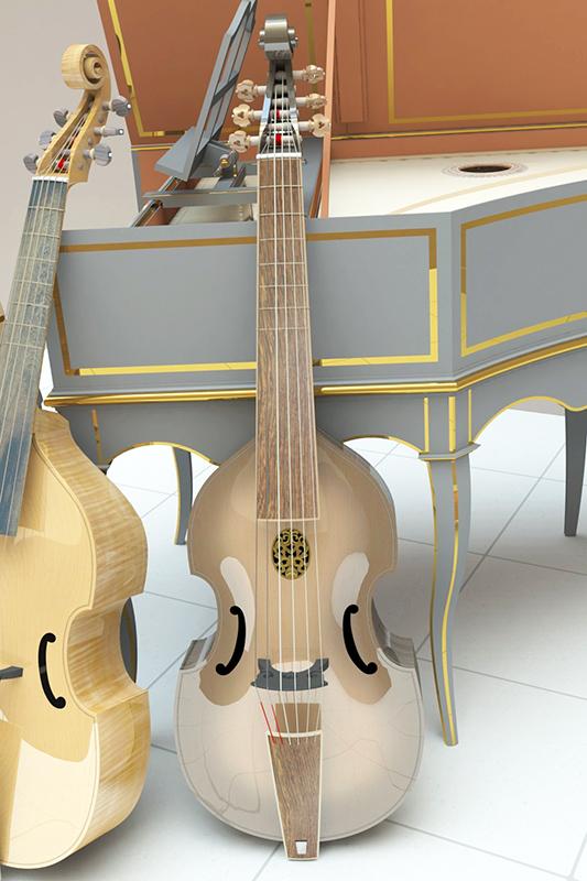 Basse de viole en noyer et à six cordes - Page 5 Viole_18