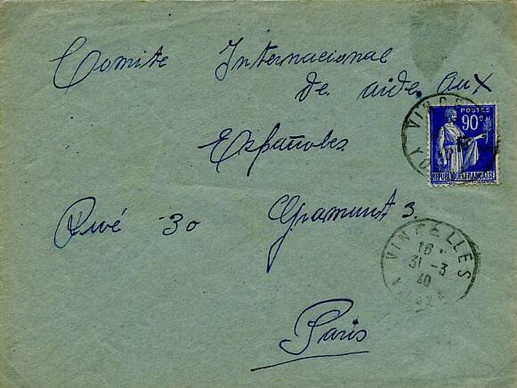 1940 Lettre d'Alsace à un prisonnier dans l'Yonne Cravan10