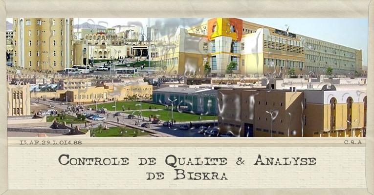 Biologie et C.Q.A de Biskra