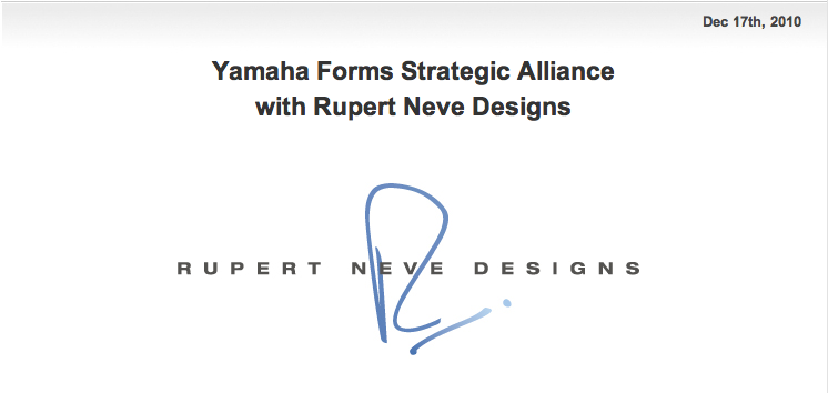alliance yamaha/rupert neve Captur20