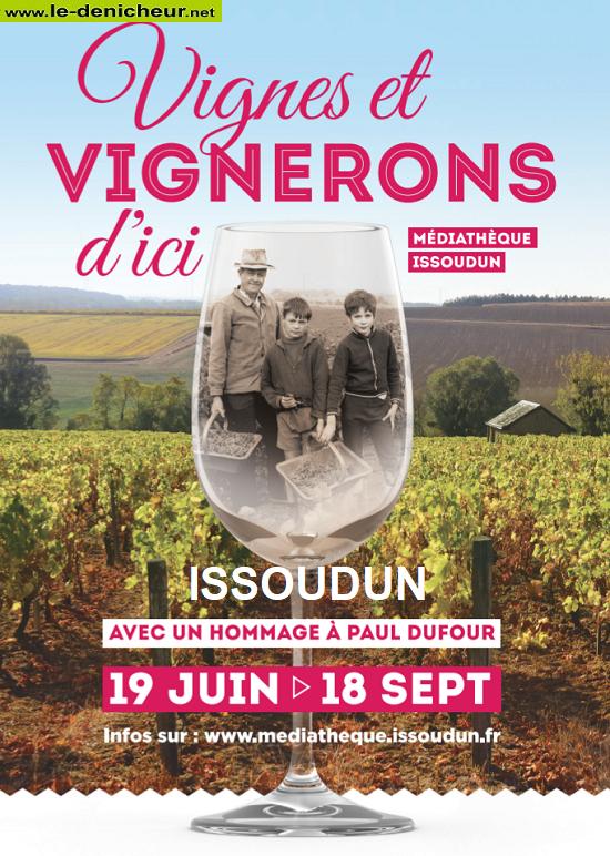 """u18 - Jusqu'au 18 septembre - ISSOUDUN - Exposition """"Vignes et vignerons d'ici"""" 000114"""