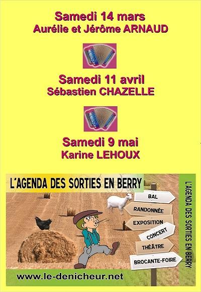 c14 - SAM 14 mars - LOURDOUEIX ST-PIERRE (23) - Soirée dansante avec A et J Arnaud  001-2311