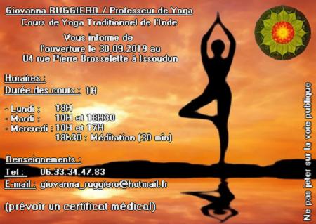 A partir du 30 septembre 2019  - ISSOUDUN - Cours de Yoga  0011024