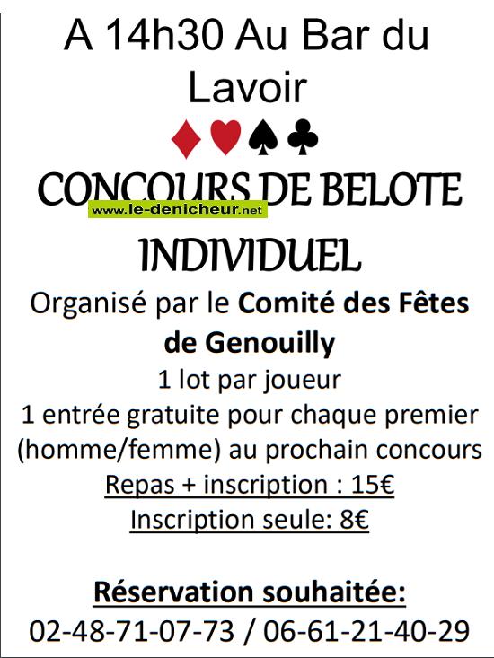 v21 - LUN 21 octobre - GENOUILLY - Concours de belote */ 0011116