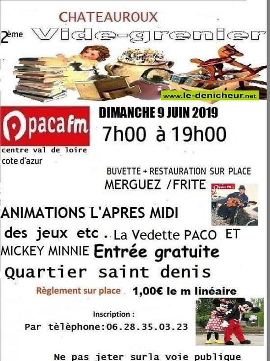 r09 - DIM 09 juin - CHATEAUROUX - Brocante Quartier St-Denis * 0011126