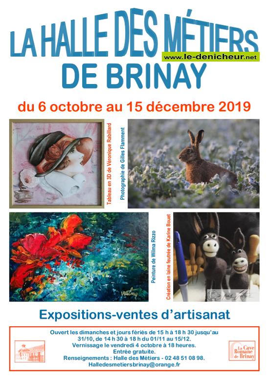 x15 - Jusqu'au 15 décembre - BRINAY - Expositions-ventes d'Artisanat _* 0011134