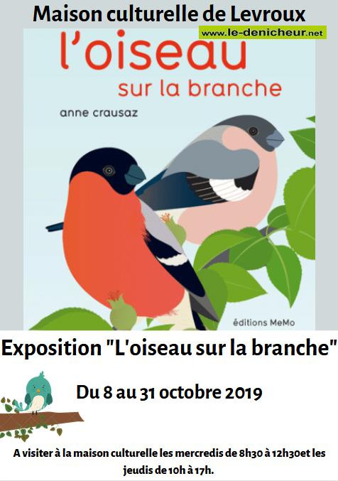v31 - Jusqu'au 31 octobre - LEVROUX - L'oiseau sur la branche (exposition)_* 0011137