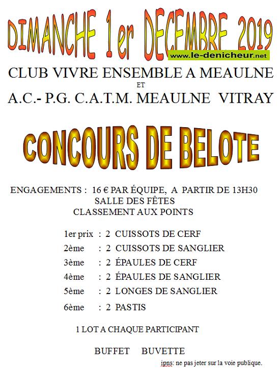x01 - DIM 01 décembre - MEAULNE - Concours de belote */ 0011171