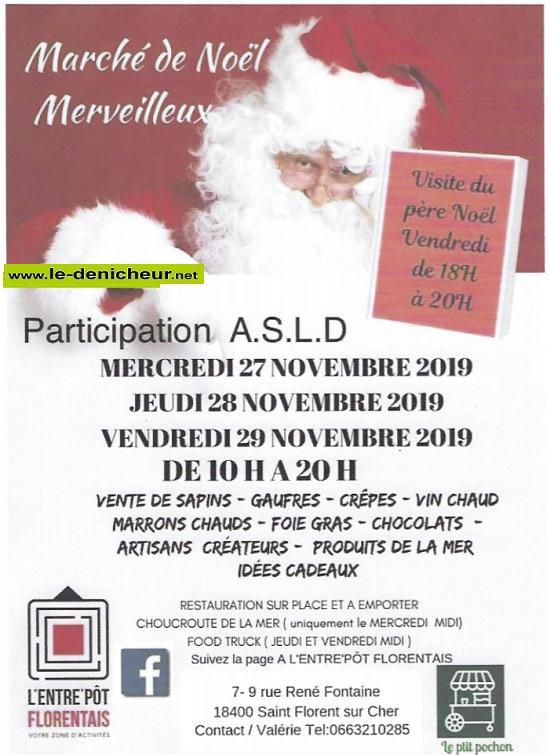 w27 - MER 27  novembre - ST-FLORENT /Cher - Marché de Noël */ 0011220