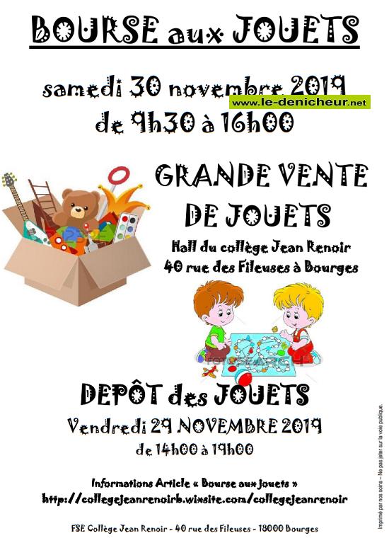 w30 - SAM 30 novembre - BOURGES - Bourse aux jouets _* 0011224