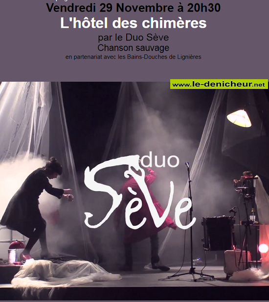 w29 - VEN 29 novembre - GERMIGNY L'EXEMPT - Duo Sève (chanson sauvage) 0011228