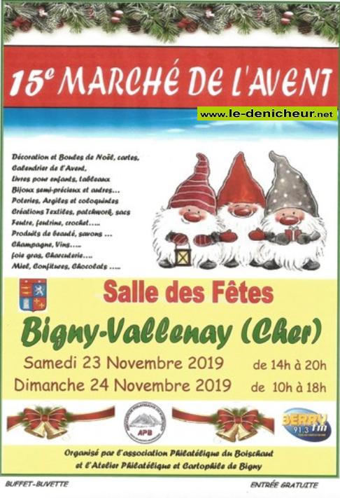 w23 - SAM 23 novembre - BIGNY-VALLENAY - Marché de l'Avent * 0011233