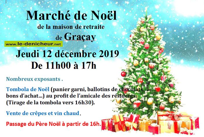 x12 - JEU 12 décembre - GRACAY - Marché de Noël _* 0011252