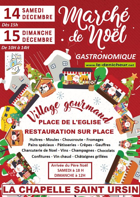 x14 - SAM 14 décembre - LA CHAPELLE ST-URSIN - Marché de Noël */ 0011257