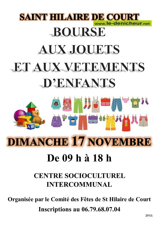 w17 - DIM 17 novembre - ST-HILAIRE DE COURS - Bourse aux jouets et vêtements _* 0011259