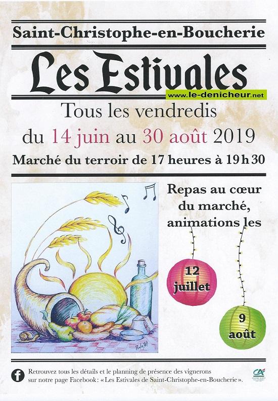 t23 - VEN 23 août - ST-CHRISTOPHE en Boucherie - Les Estivales (Marché du Terroir) 0011268