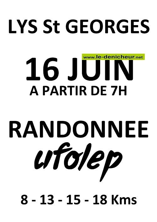 r16 - DIM 16 juin - LYS ST-GEORGES - Randonnée pédestre _* 0011275