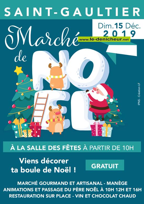 x15 - DIM 15 décembre - ST-GAULTIER - Marché de Noël _* 0011303