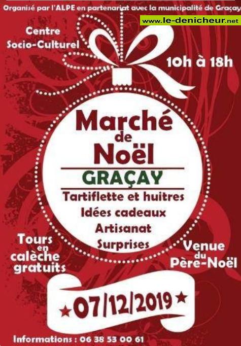 x07 - SAM 07 décembre - GRACAY - Marché de Noël *  0011322