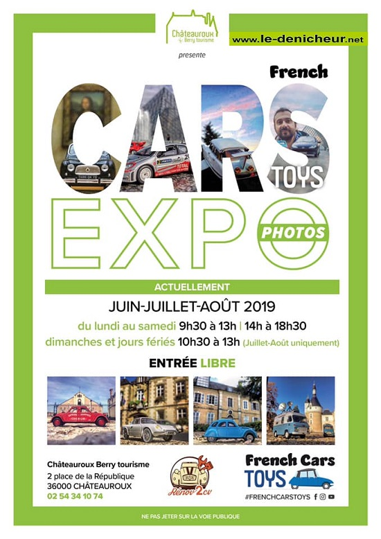 "t31 - Jusqu'au 31 août - CHATEAUROUX - Expo photos ""French Cars Toys"" 0011340"