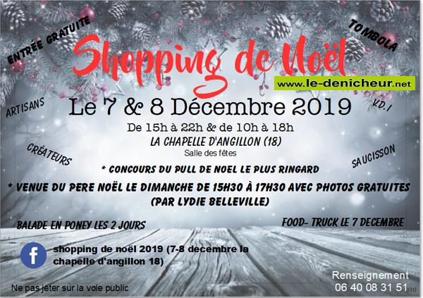 x08 - DIM 08 décembre - LA CHAPELLE D'ANGILLON - Shooping de Noël * 0011347