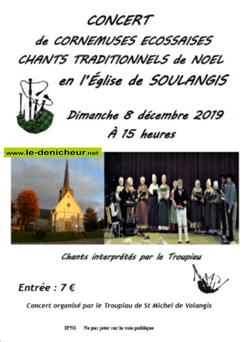 x08 - DIM 08 décembre - SOULANGIS - Concert en l'église * 0011355