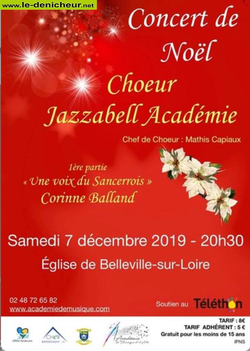 x07 - SAM 07 décembre - BELLEVILLE /Loire - Concert de Noël * 0011356