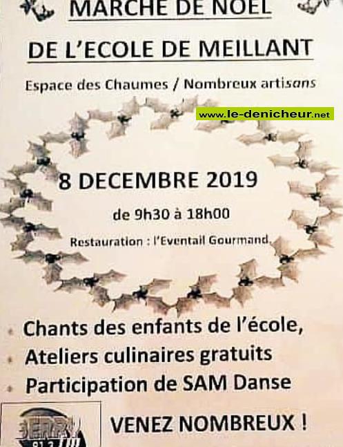 x08 - DIM 08 décembre - MEILLANT - Marché de Noël * 0011369