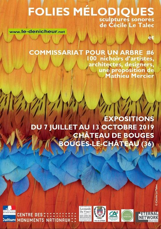 v13 - Jusqu'au 13 octobre - BOUGES LE CHÂTEAU - Exposition: sculptures sonores et nichoirs * 0011383