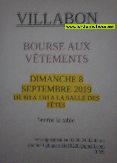 u08 - DIM 08 septembre - VILLABON - Bourse aux vêtements _* 0011400