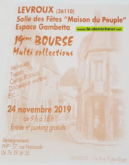 w24 - DIM 24 novembre - LEVROUX - Bourse Multi-collections _* 0011440