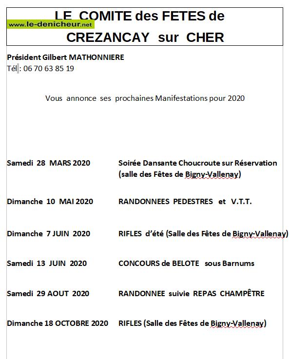 j18 - DIM 18 octobre - BIGNY VALLENAY - Rifles du CdF de Crézançay 0011444