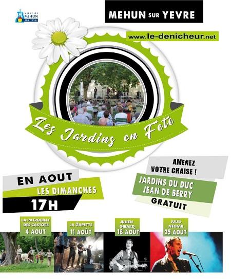 t25 - DIM 25 août - MEHUN /Yèvre - Jules Nectar en concert (Les Jardins en Fêtes) 0011447