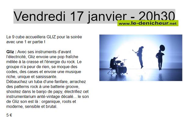 a17 - VEN 17 janvier - CHATEAUROUX - Gliz en concert _* 0011450