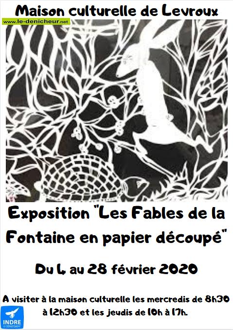 b28 - Jusqu'au 28 février - LEVROUX - Les Fables de la Fontaine en papier découpé (expo) 0011524