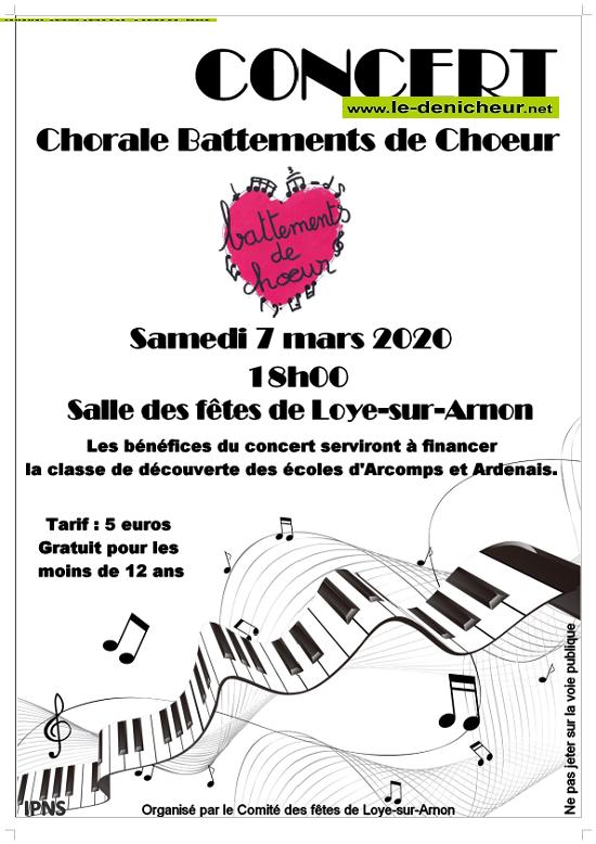 """c07 - SAM 07 mars - LOYE /Arnon - Concert de la Chorale """"Battements de Choeur"""" */ 0011529"""