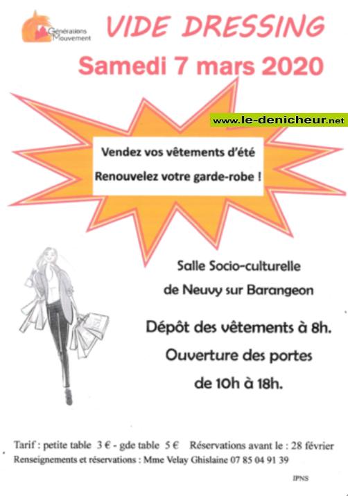 c07 - SAM 07 mars - NEUVY /Barangeon - Vide dressing * 0011556