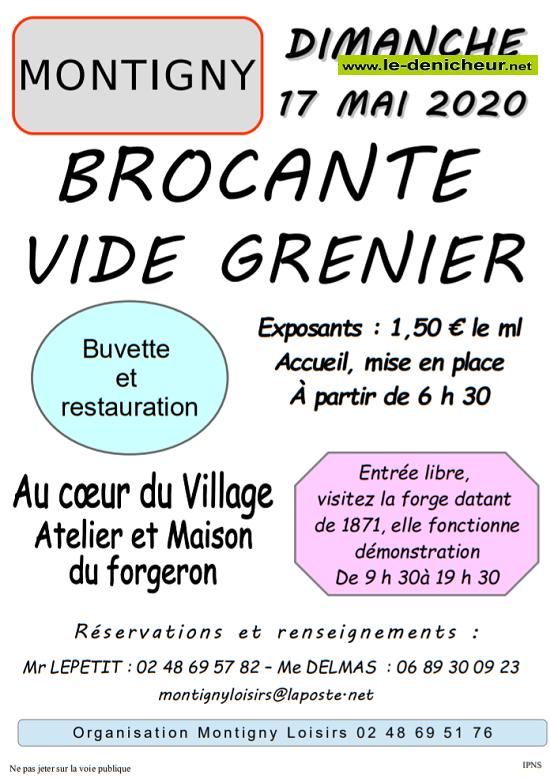 e17 - DIM 17 mai - MONTIGNY - Brocante de Montigny Loisirs .*/ 0011578