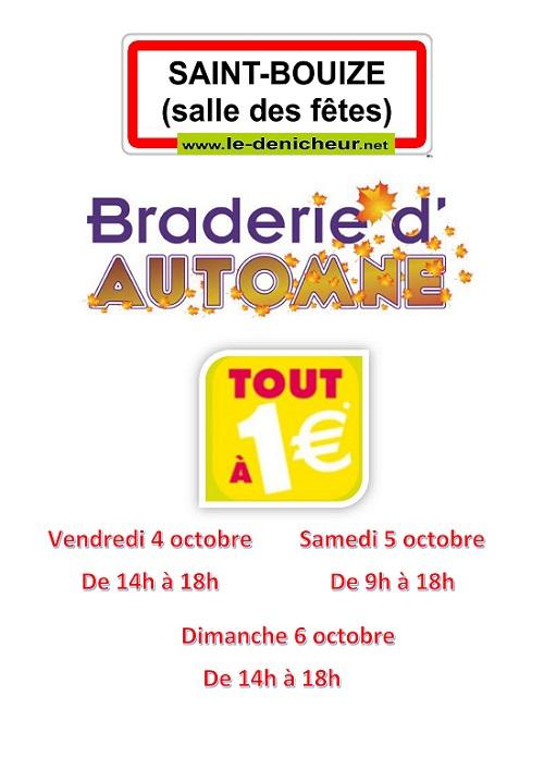 v06 - DIM 06 octobre - ST-BOUIZE - Braderie des Amis de St-Baudel _* 0011582